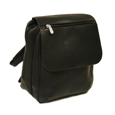 Piel Leather Entrepreneur Flap-Over Mini Backpack in Black