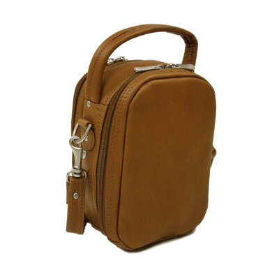 Piel Leather Video / Camera Bag in Saddle