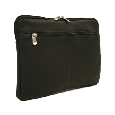 "Piel Leather Entrepreneur 17"" Zip Laptop Sleeve in Black"