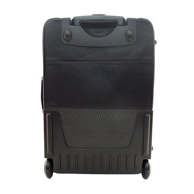 "Piel Leather 22"" Wheeled Carry On"