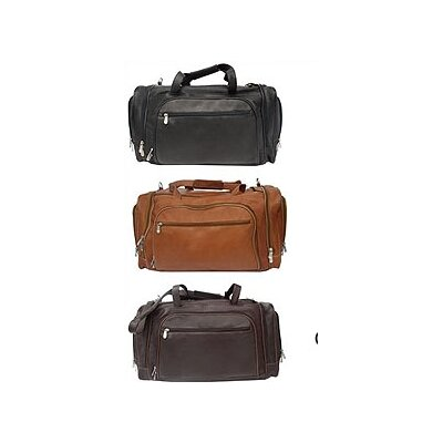 "Piel Leather 20"" Leather Multi-Compartment Carry-On Duffel"
