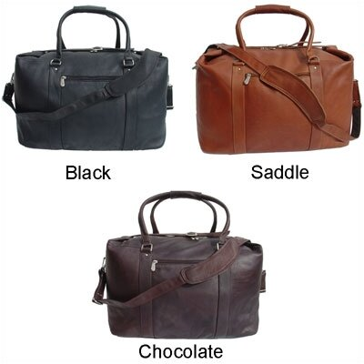 "Piel Leather 20"" Leather European Carry-On Duffel"