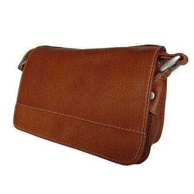 Piel Leather Flap-Over Handbag