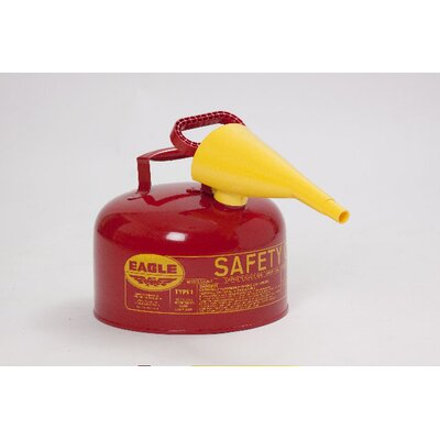 Eagle Manufacturing Company 2.5 Gal Red Metal Safety Can with F15 Funnel