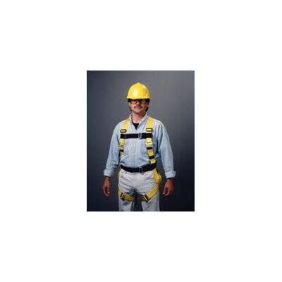 Miller Fall Protection Harness With Adjustable Fit Friction Buckle And Tongue Buckle Chest Strap