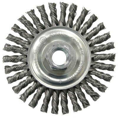 "Radnor X .020"" X 5/8"" - 11 32 Knot S/B Twist Knot Wheel Brush"