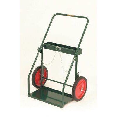 Radnor Model 314-27 Continuous Handle Cylinder Cart With Semi Pneumatic Wheels With Ball Bearings