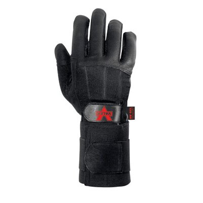 Black Left Hand Pro Full Finger Anti-Vibe Glove With AV GEL™ Padding And Wrist Wrap ...