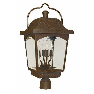 World Imports Ayrs 4 Light Outdoor Post Lantern