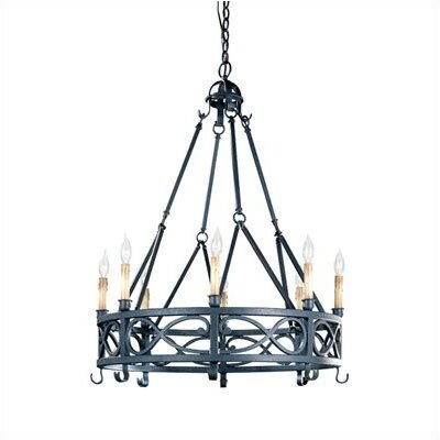 World Imports Iron Works 8 Light  Chandelier