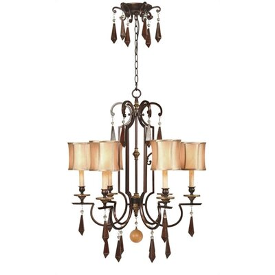 World Imports Turin 6 Light Iron Chandelier