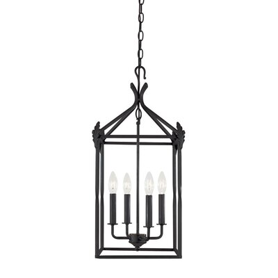 World Imports Iron 4 Light Hanging Lantern