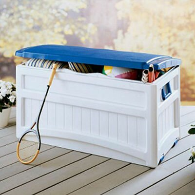 Suncast Resin 73 Gallon Deluxe Deck Box