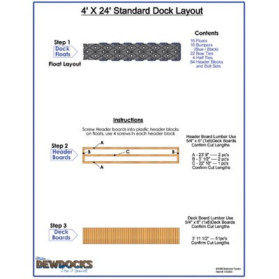 "DewDocks - USA 48"" x 288"" Standard Dock Layout"