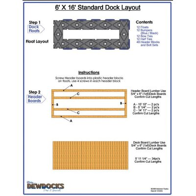 "DewDocks - USA 72"" x 192"" Standard Dock Layout"