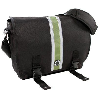 DadGear Center Stripe Messenger Diaper Bag