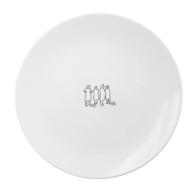 Ink Dish Tug Dinner Plate