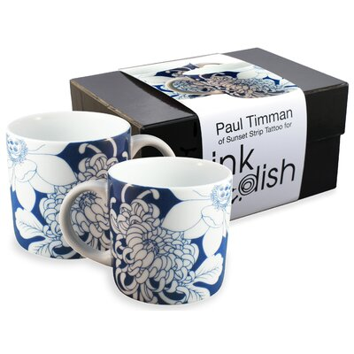 Ink Dish Tattoo Lotus 2 Mug Gift Set
