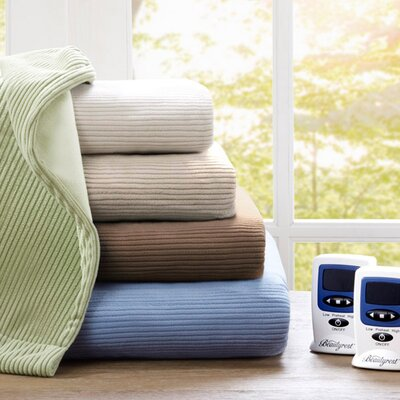 Beautyrest Micro Fleece Polyester Heated Blanket