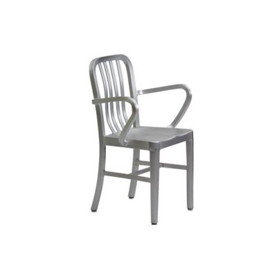 New Spec Inc Argent Stacking Dining Arm Chairs (Set of 4)
