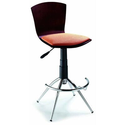 New Spec Inc Barstool 52 Adjustable Barstool in Walnut