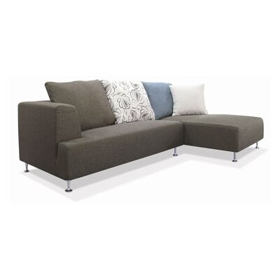 New Spec Inc Blossom Right Fabric Sectional