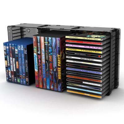 Atlantic Disc Module 21 DVD/45 CD Multimedia Tabletop Storage Rack