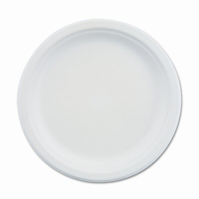 "Chinet Paper Dinnerware,  Shallow Plate, 9"" Diameter, White, 500/CT"