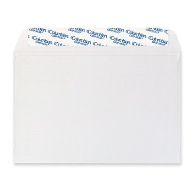 Columbian Envelope Grip-Seal Booklet/Document Envelope, 6 x 9, White, 250/Box