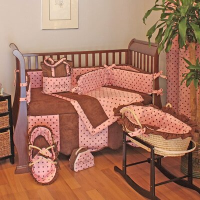 Hoohobbers Dots Pink Crib Bedding Collection
