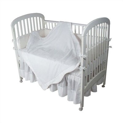 Hoohobbers Crib Bedding Collection in White Eyelet / Pique
