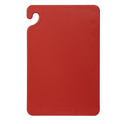 San Jamar Cut-N-Carry Color Cutting Board in Red