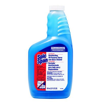 SPIC &amp; SPAN Disinfecting All-Purpose Spray and Glass Cleaner Concentrate Liquid Bottle