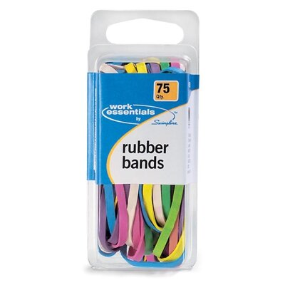 Swingline 75 Count Multi Color Rubber Band Assortment