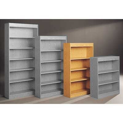 "Fleetwood Library 60"" H Four Shelf Double Sided Bookcase"