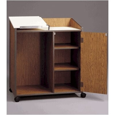 Fleetwood Mobile Podium with Cabinet