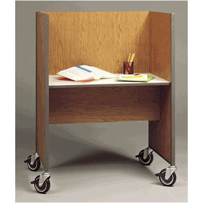 Fleetwood Library Mobile Wood and Steel Study Carrel