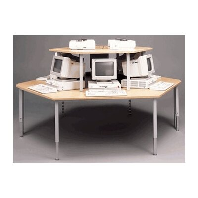 Fleetwood Trapezoid Computer Workstation with Adjustable Height