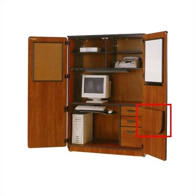 Fleetwood Illusions Fold Down Door Shelf - For Use with the Illusions Teacher Computer Center
