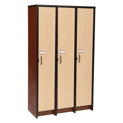 "Fleetwood 60"" H Three Unit Laminate Locker"