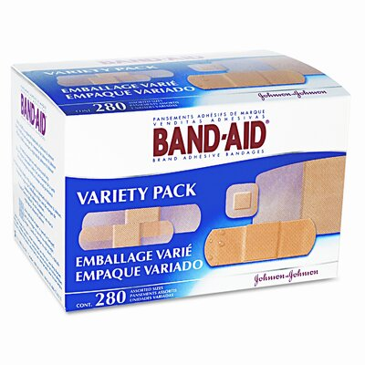 BAND-AID Sheer/Wet Adhesive Bandages, 280/Box