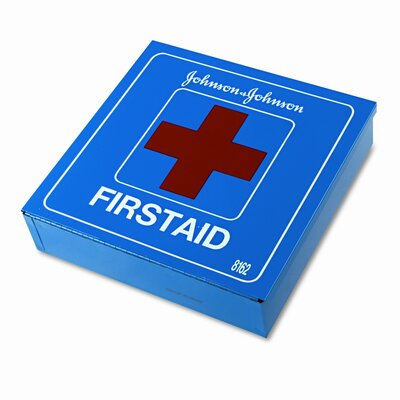 BAND-AID Johnson and Johnson Red Cross Industrial First Aid Kit for 50 People, 225 Pieces