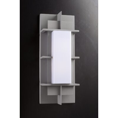 PLC Lighting Decora Outdoor  Wall Sconce in Silver