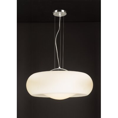 PLC Lighting Munega 1 Light Drum Pendant