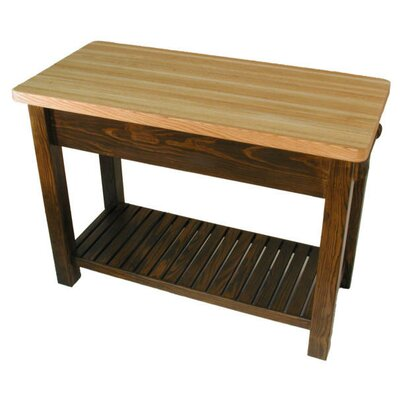 Bradley Brand Furniture Caney Creek Prep Table with Butcher Block Top