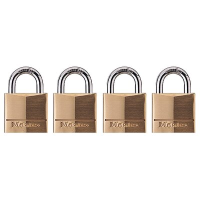 Master Lock Company Padlock in Brass (Set of 4)
