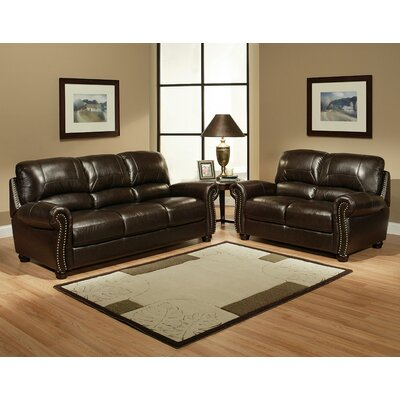 Abbyson Living Broadway Italian Leather Loveseat