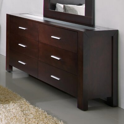 Abbyson Living Azara 6 Drawer Dresser and Mirror Set