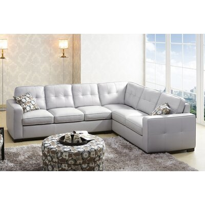 Sienna Bonded Leather Sectional Sofa