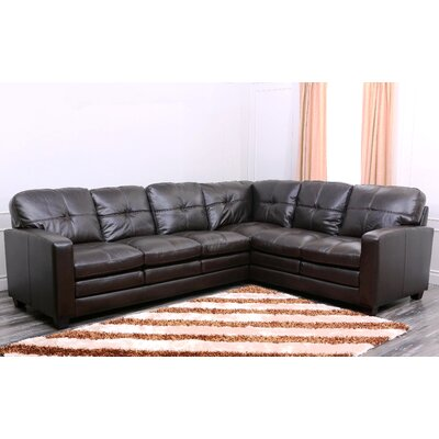Sienna Premium Top Grain Leather Sectional Sofa